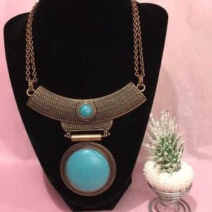 Neacklace/earrings set-turquoise